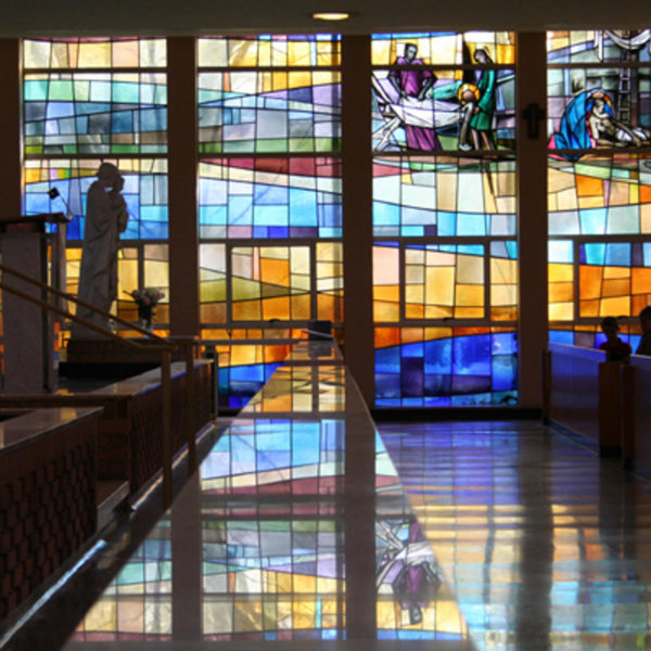 15 vetrate navata